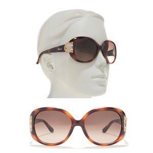 Salvatore Ferragamo 57mm Oversized Sunglasses